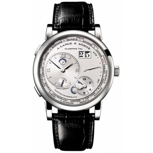Replica A.Lange & Sohne Grand Lange 1 Silver Dial 42mm Mens Watch