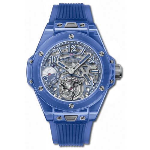 Fake Hublot Big Bang Tourbillon Power Reserve 5 days Blue Sapphire Watch 405.JL.0120.RT