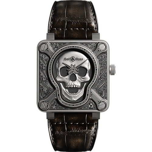 Replica Bell & Ross BR 01-92 Automatic Burning Skull Mens Watch
