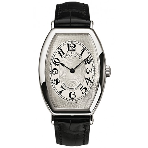 Replica Patek Philippe Gondolo Mechanical Gold Dial Leather Mens Watch