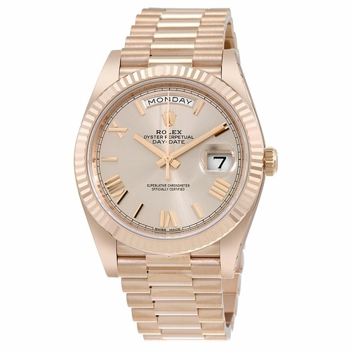Rolex Day-Date 40 Sundust Dial Automatic Mens Watch Fake