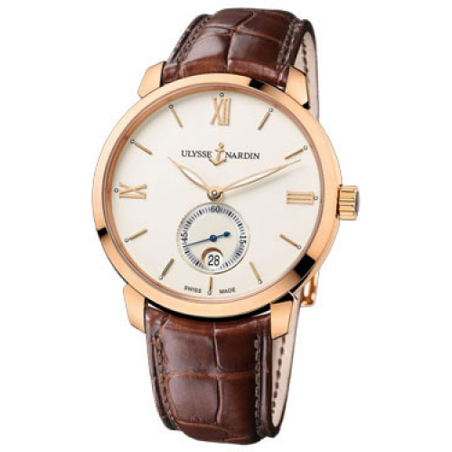 Replica Ulysse Nardin San Marco Classico Ivory Dial Rose Gold Mens Watch
