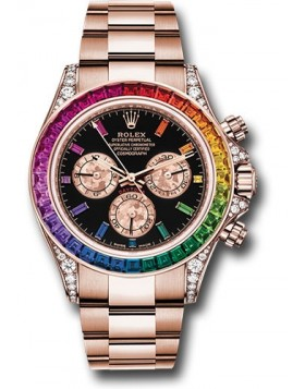 Rolex Daytona Rainbow Everose Gold Watch Replica