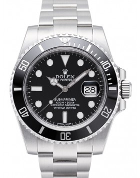 Rolex Submariner Date Black Bezel Mens Watch Replica