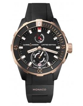 Fake Ulysse Nardin Diver Chronometer Monaco Watch 1185-170LE-3/BLACK-MON