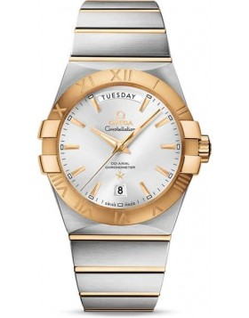 Popular Replica Omega Constellation Co-Axial Automatic Day Date 38mm Mens Watch 123.20.38.22.02.002
