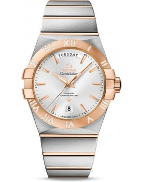 Popular Replica Omega Constellation Co-Axial Automatic Day Date 38mm 123.25.38.22.02.001