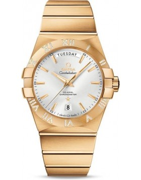 Popular Replica Omega Constellation Co-Axial 38mm Day-Date Yellow Gold 123.55.38.22.02.002