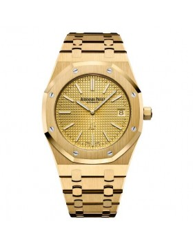 Replica Audemars Piguet Royal Oak Extra-Thin Yellow Gold Watch
