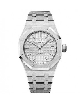 Replica Audemars Piguet Royal Oak Frosted Gold Automatic 37mm White Ladies Watch