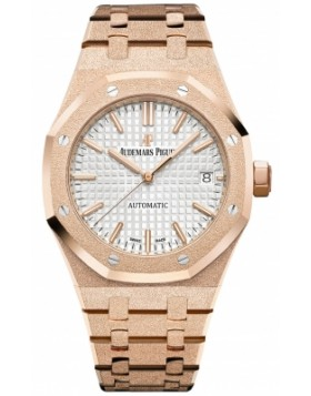 Fake Audemars Piguet Royal Oak 37mm Frosted Gold Ladies Watch 15454OR.GG.1259OR.03