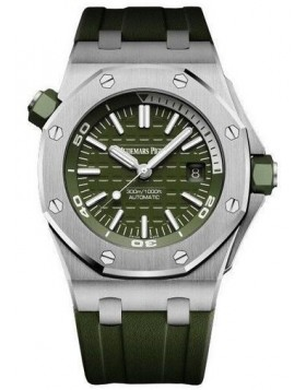 Fake Audemars Piguet Royal Oak Offshore Diver Khaki Dial 15710ST.OO.A052CA.01