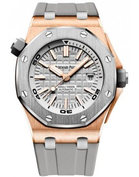 Fake Audemars Piguet Royal Oak Offshore Diver Pink Gold 15711OI.OO.A006CA.01
