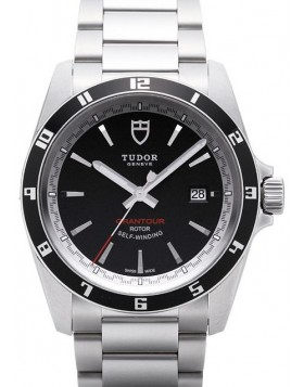 Tudor Grantour Date Black Dial Steel Strap Mens Watch Replica 20500N-1