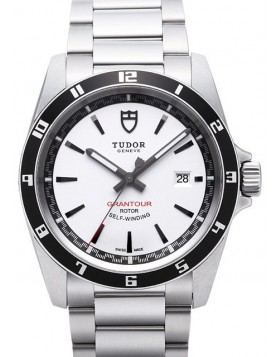 Tudor Grantour Date Bay White Dial Steel Strap Mens Watch Replica 20500N-3