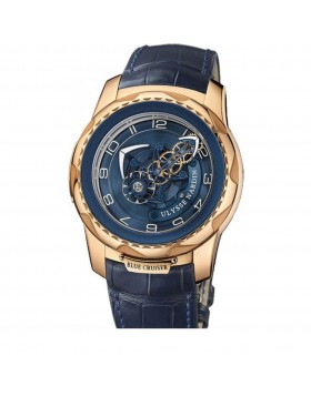 Fake Ulysse Nardin Freak Cruiser Rose Gold Blue Mens Watch 2056?131/03