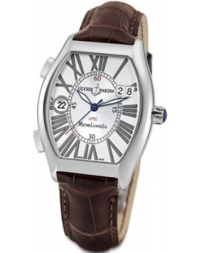 Fake Ulysse Nardin Michelangelo Gigante UTC Silver Dial Mens Watch 223-1141