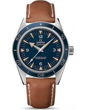 Popular Replica Omega Seamaster 300 Automatic Blue DialTitanium Mens Watch 233.92.41.21.03.001