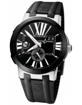 Fake Ulysse Nardin Executive Dual Time 43mm Black Dial Mens Watch 243-00-3/42