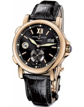 Fake Ulysse Nardin Dual Time Black Dial Mens Automatic Watch 246-55/32