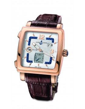 Replica Ulysse Nardin Quadrato Dual Time 18kt Rose Gold Mens Watch