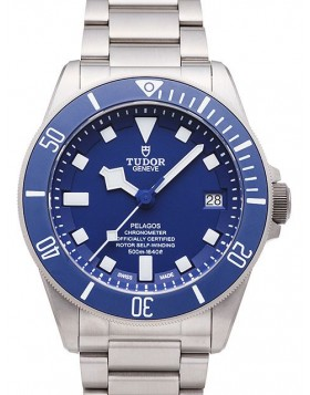 Tudor Pelagos Blue Dial Titanium Strap Mens Watch Replica 25600TB