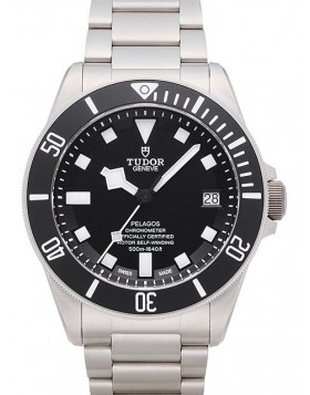 Tudor Pelagos Black Dial Titanium Strap Mens Watch Replica 25600TN