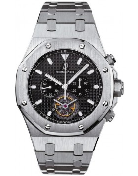 Fake Audemars Piguet Royal Oak Tourbillon Chronograph Watch 25977ST.OO.1205ST.02