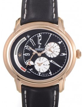 Audemars Piguet Millenary Maserati Dual Time Black Dial Mens Watch Fake