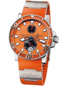 Fake Ulysse Nardin Maxi Marine Diver Orange Dial Mens Watch 263-33-3/97