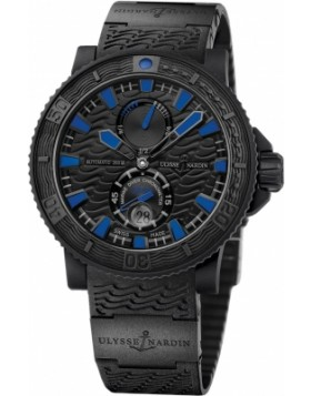 Fake Ulysse Nardin Maxi Marine Diver Black Sea Mens Watch 263-92-3C923