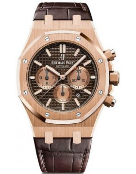 Replica Audemars Piguet Royal Oak Chronograph 41mm Rose Gold Mens Watch