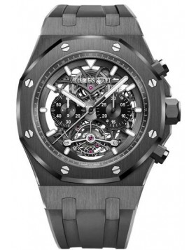 Fake Audemars Piguet Royal Oak Tourbillon Chronograph Openworked Skeleton 26343CE.OO.D002CA.01