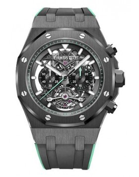 Fake Audemars Piguet Royal Oak Tourbillon Chronograph Openworked 26343CE.OO.D002CA.03