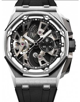 Fake Audemars Piguet Royal Oak Offshore Tourbillon Chronograph 25th anniversary 26421ST.OO.A002CA.01