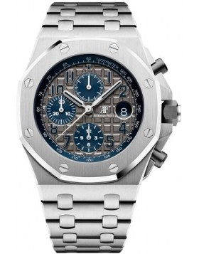 Fake Audemars Piguet Royal Oak Offshore Chronograph Titanium Grey Dial 26474TI.OO.1000TI.01