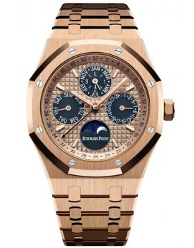 Fake Audemars Piguet Royal Oak Perpetual Calendar 41 Pink Gold 26584OR.OO.1220OR.01