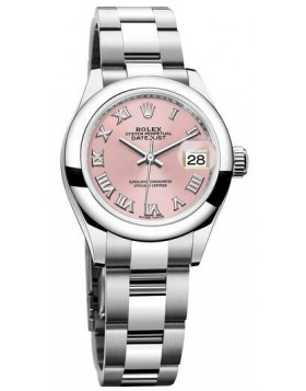 Popular Replica Rolex Oyster Perpetual Lady-Datejust 28 Pink Dial Ladies Watch 279160
