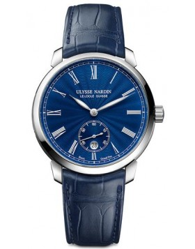 Ulysse Nardin Classico Manufacture Blue Dial Watch Fake