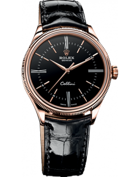 Rolex Cellini Time Black Dial Mens Watch Replica