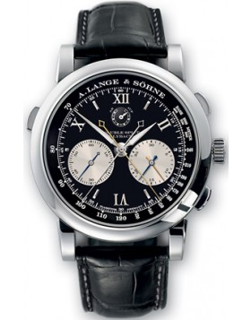 Replica A.Lange & Sohne Double Split Chrono Automatic Blue Dial 40mm Mens Watch