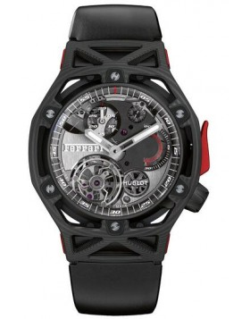 Fake Hublot Techframe Ferrari Tourbillon Chronograph Carbon 45mm 408.QU.0123.RX