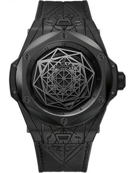 Replica Hublot Big Bang Unico Sang Bleu All Black 45mm Mens Watch