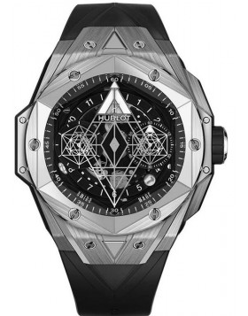 Fake Hublot Big Bang Unico Sang Bleu II Titanium Watch 418.NX.1107.RX.MXM19