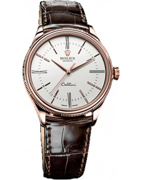 Rolex Cellini Time White Dial Mens Watch Replica