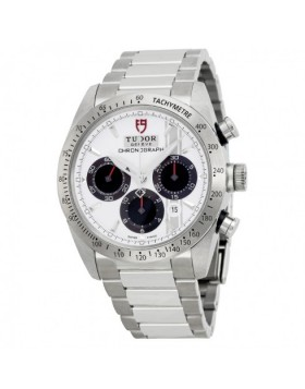 Tudor Fastrider Chronograph White Dial Stainless Steel Mens Watch Replica 42000