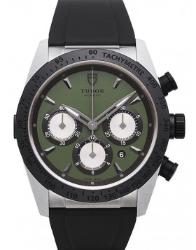 Tudor Fastrider Chronograph Green Dial Rubber Strap Mens Watch Replica 42010N-2