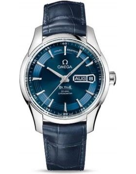 Popular Replica Omega De Ville Hour Vision Annual Calendar 41mm Blue Dial 431.33.41.22.03.001