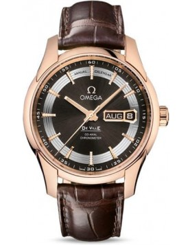 Popular Replica Omega De Ville Hour Vision Annual Calendar 41mm Brown Dial 431.63.41.22.13.001