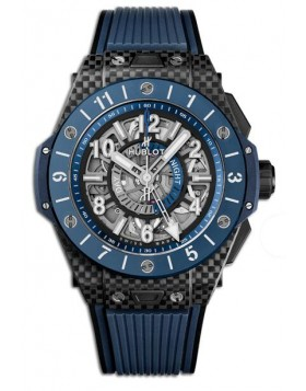 Fake Hublot Big Bang Unico Gmt Carbon Blue Ceramic Watch 471.QL.7127.RX